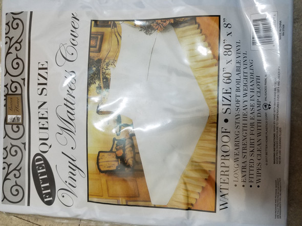 Vinyl Mattress Covers-Fitted Queen, Vinyl, Queen - 1 Pkg