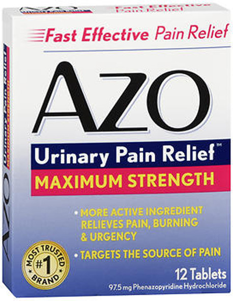 Azo Standard Tablets Maximum Strength - 12 ct