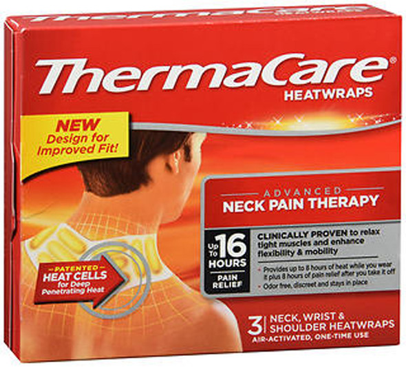 ThermaCare HeatWraps Neck, Wrist & Shoulder - 3 ct