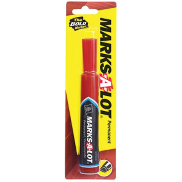 Marks-A-Lot Marker, Red - 1 Pkg