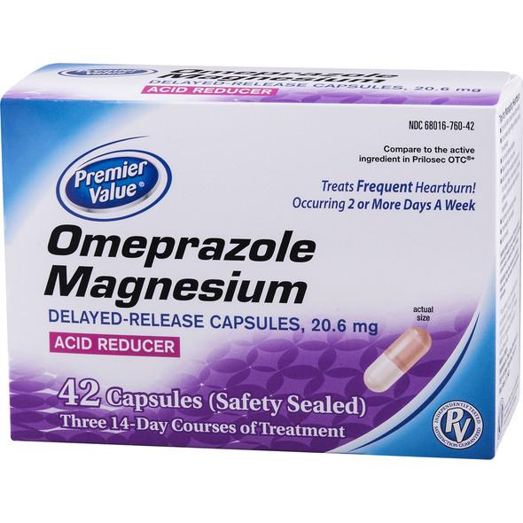 Premier Value Omeprazole Mag. 20 Mg Capsules - 42ct