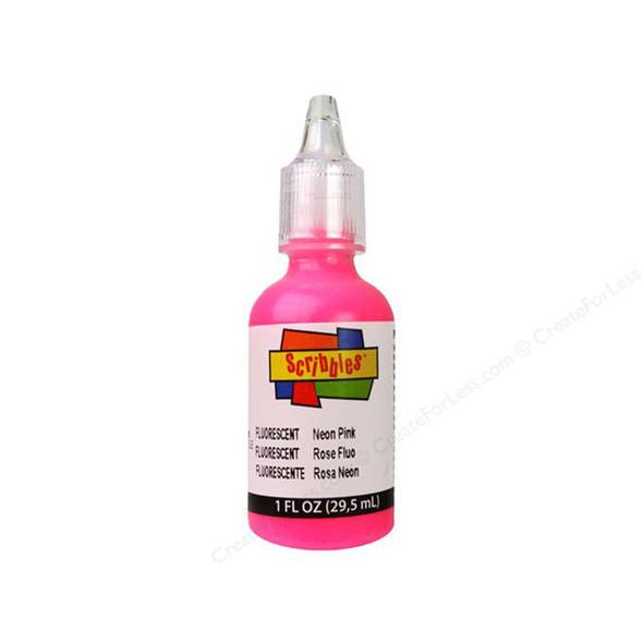 Scribbles Dimensional Fabric Paint, Neon Pink, 1 oz - 1 Pkg