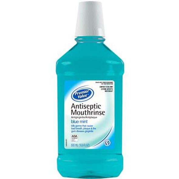 Premier Value Antiseptic Mouthwash Blue - 16.9oz
