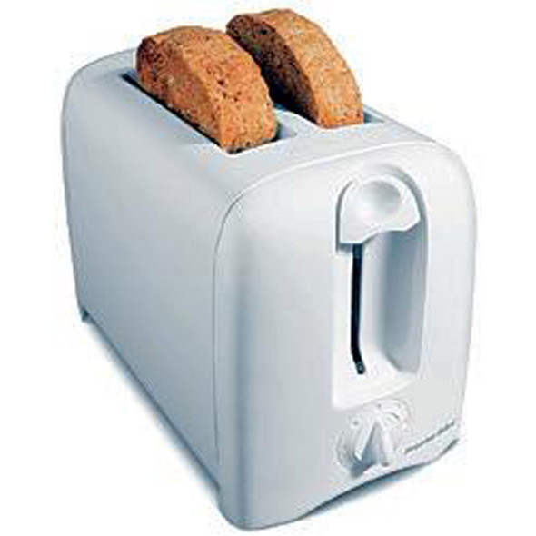 Proctor Silex Toaster Small Appliance, White, 2 Slice - 1 Pkg