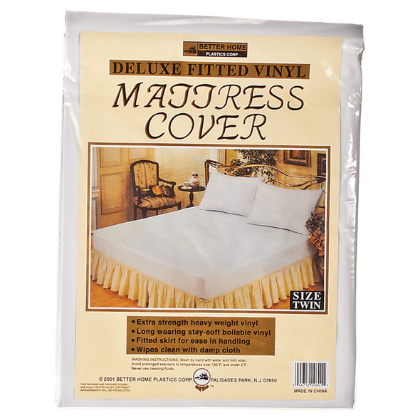 Vinyl Mattress Covers-Fitted Twin, Vinyl, Twin - 1 Pkg