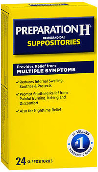 Preparation H Hemorrhoid Suppositories - 24 ct