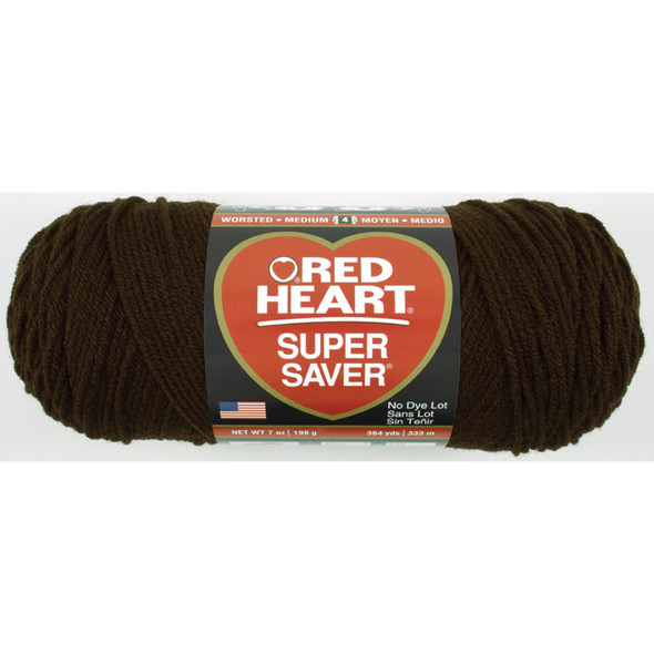 E300 Super Saver Yarn, Coffee, 7 oz - 3 Packs