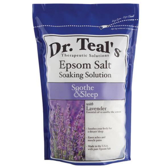 Dr. Teals Epsom Salt, Lavender, 3# - 1 Pkg