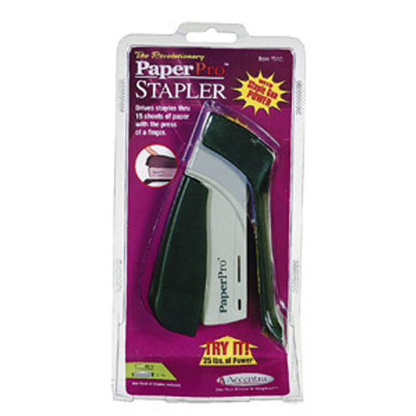 Paper Pro Stapler - Half Strip, Black/Gray - 1 Pkg