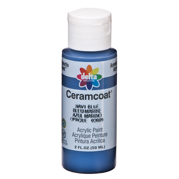 Ceramcoat Acrylic Paint, Navy Blue, 2 oz - 1 Pkg