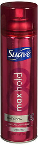 Suave Max Hold Hairspray Aerosol Unscented - 11 oz