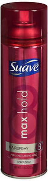 Suave Max Hold Hairspray Aerosol Unscented - 11 oz