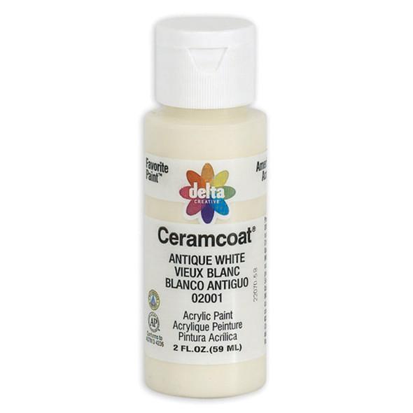 Ceramcoat Acrylic Paint, Antique White, 2 oz - 1 Pkg