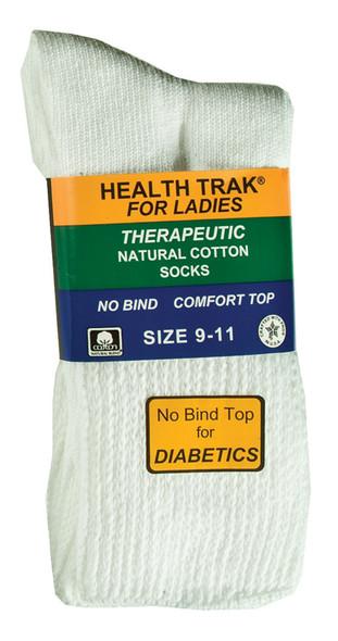 Ladies Therapeutic Sock, White - 1 Pkg