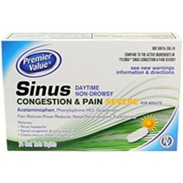 Premier Value Severe Sinus Congestn/Pain - 24ct