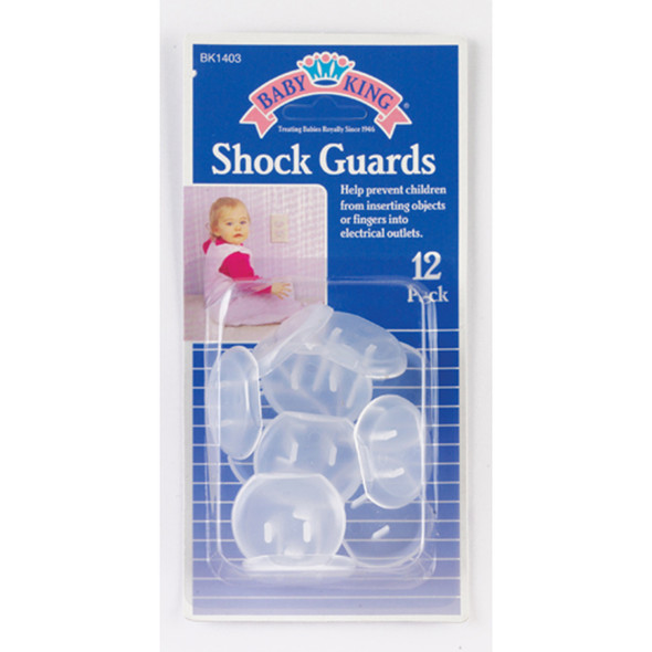 Baby King Shock Safety Guards, White, 12 Ct - 1 Pkg