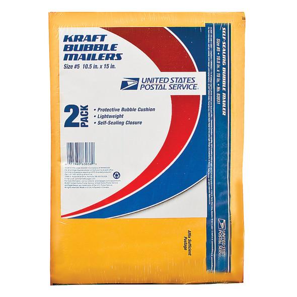"Mailer Manila Kraft Bubble, 10.5X15"" - 1 Pkg"