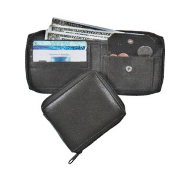 Zip Around Wallet, Black, 9X4 - 1 Pkg