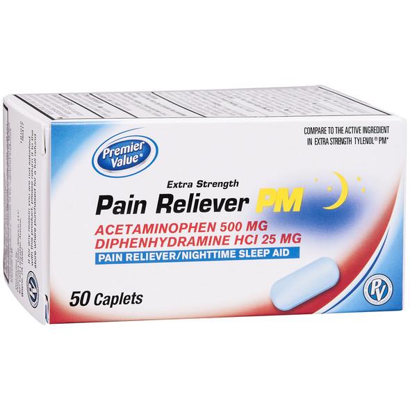 Premier Value Non-Asa Pm Caplets - 50ct