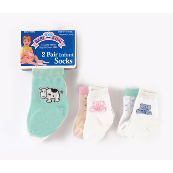 Infant Socks, Asst - 1 Pkg