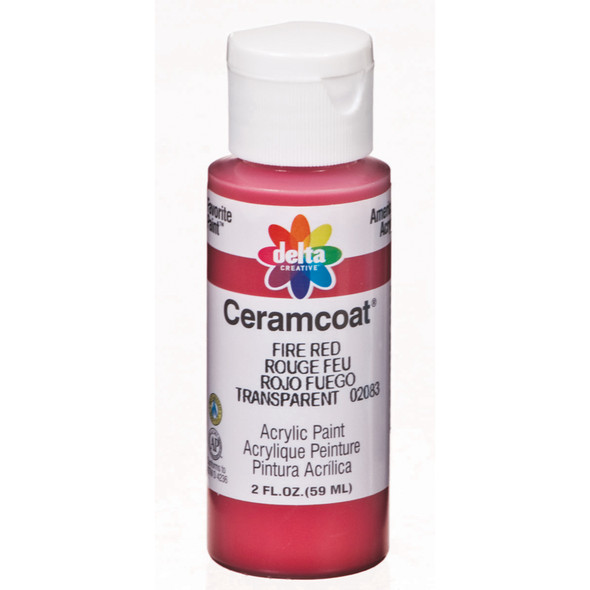 Ceramcoat Acrylic Paint, Fire Red, 2 oz - 1 Pkg
