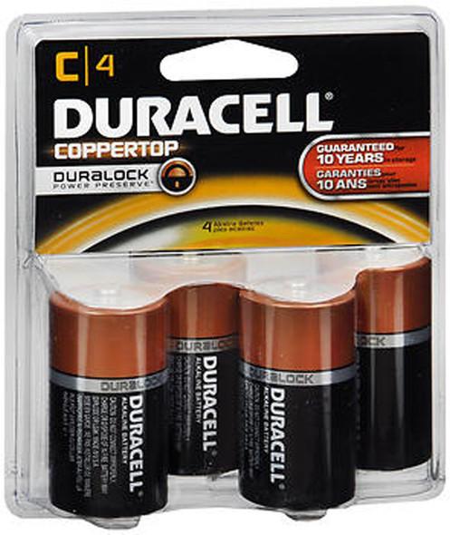 Duracell Coppertop Alkaline Batteries 1.5 Volt Size C - 4 pk