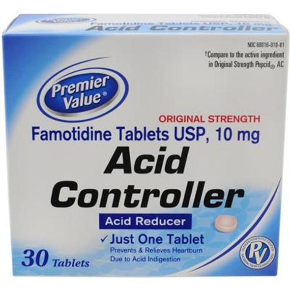 Premier Value Famotidine 10Mg Tablets - 30ct