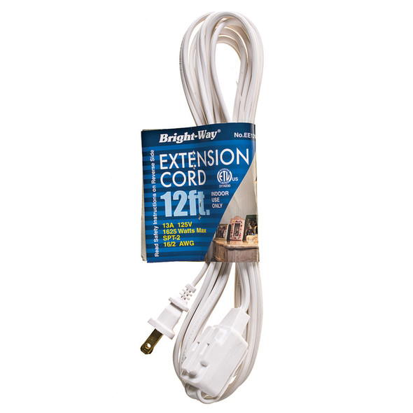 Extension Cord 12', White - 1 Pkg