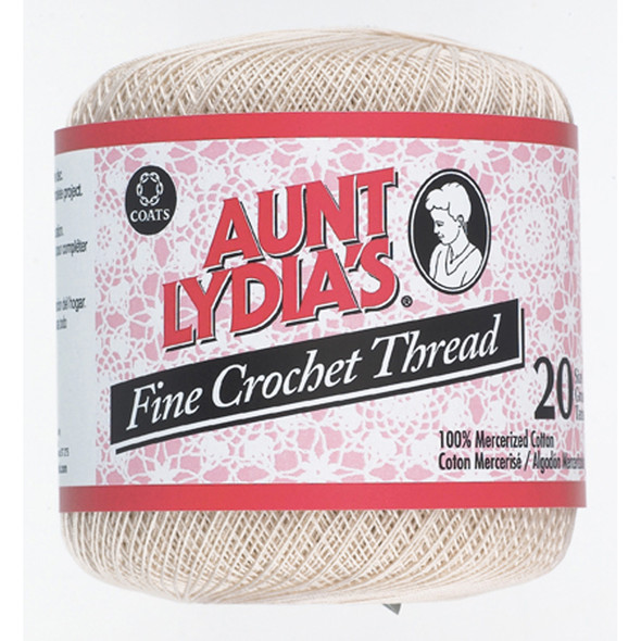 Aunt Lydia's Fine Crochet Thread, Natural, 400 Yds. - 3 Pkgs