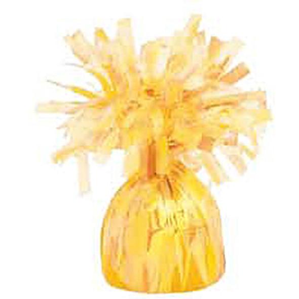 Foil Balloon Weight, Yellow, 6.2 oz - 1 Pkg