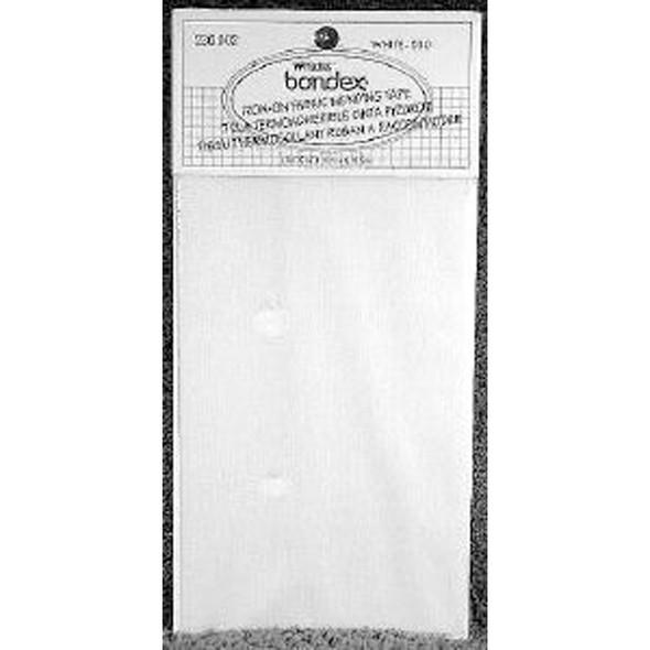 "Iron-On Mending Fabric, White, 6.5""X14"" - 1 Pkg"