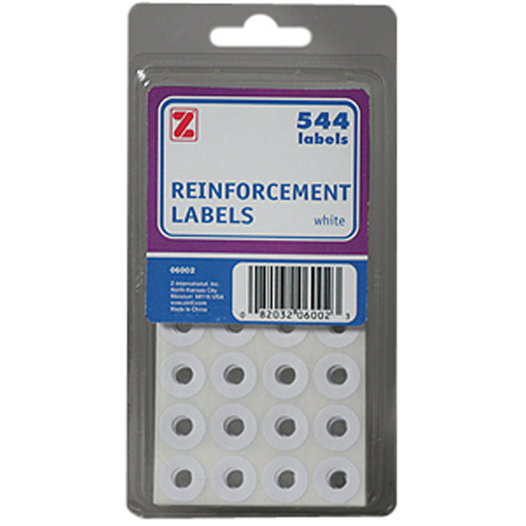 Reinforcement Labels, White, 544Ct. - 1 Pkg