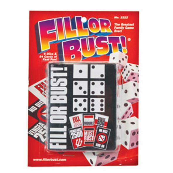 "Fill Or Bust Card/Dice Game, 5""X7"""