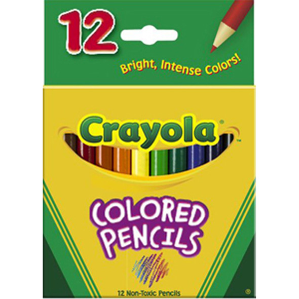 Colored Pencils - Short, 12Ct. - 1 Pkg