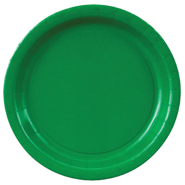 """Solid Color Luncheon Plate, Emerald Green, 7"""" - 1 Pkg"""