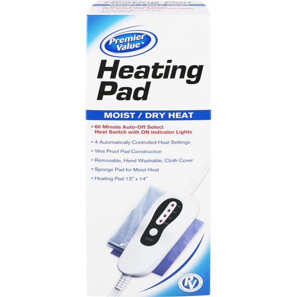 Premier Value Heating Pad Moist/Dry - 1ct