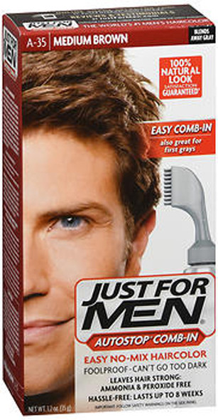 Just For Men AutoStop Formula Haircolor Medium Brown A-35