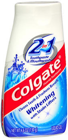 Colgate 2 in 1 Whitening Toothpaste & Mouthwash Liquid Gel - 4.6 oz