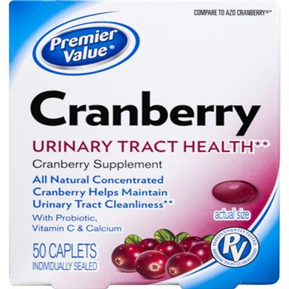 Premier Value Cranberry Tabs - 50ct