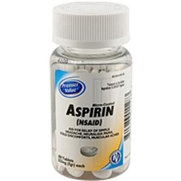 Premier Value Aspirin Coated 325Mg - 100ct