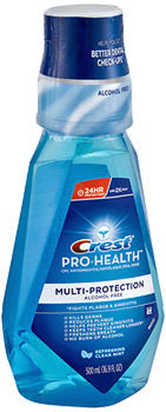 Crest Pro-Health Multi-Protection Oral Rinse Refreshing Clean Mint - 16.6 oz