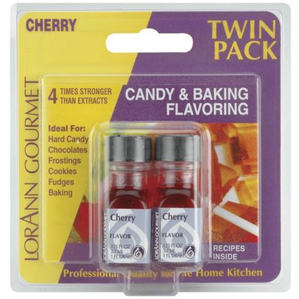 Twin Pack Flavoring Oils, Candy/Baking, Cherry, 2X.125 - 1 Pkg