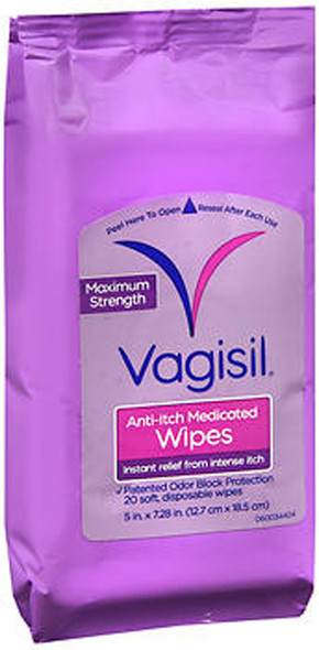 Vagisil Maximum Strength Anti-Itch Medicated Wipes - 20 ct