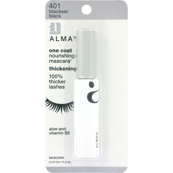 Almay One Coat Thick Mascara, Black/Black - 1 Pkg