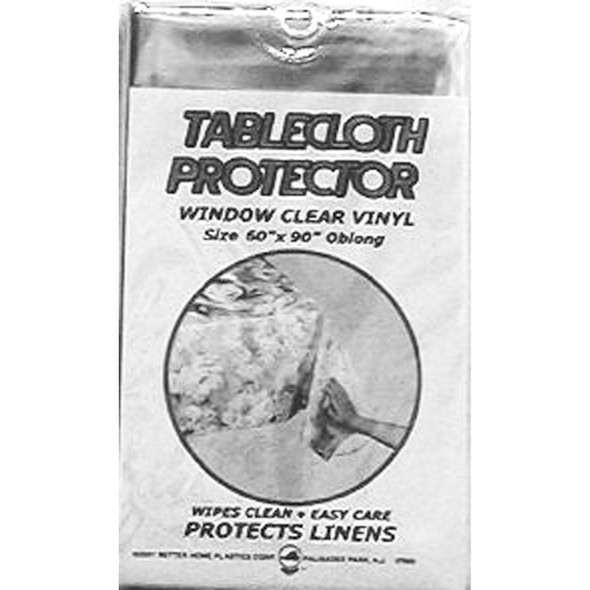 "Clear Vinyl Tablecloth Protector 70"" Round - 1 Pkg"