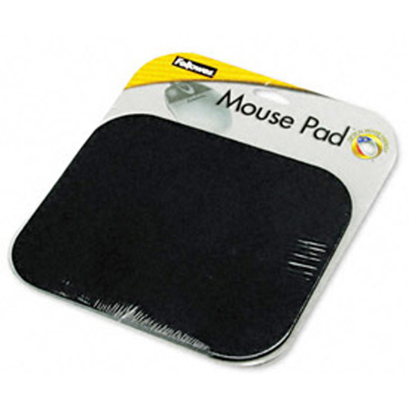 "Medium Mouse Pad, Black, 3/6X9X8"" - 1 Pkg"