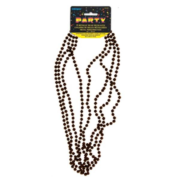 """Bead Necklace Party Favors, Black, 32"""" - 1 Pkg"""