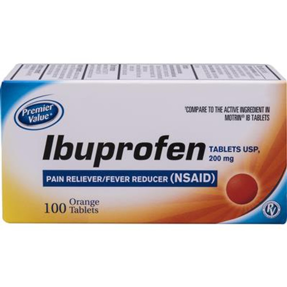 Premier Value Ibuprofen Tablets Orange - 100ct