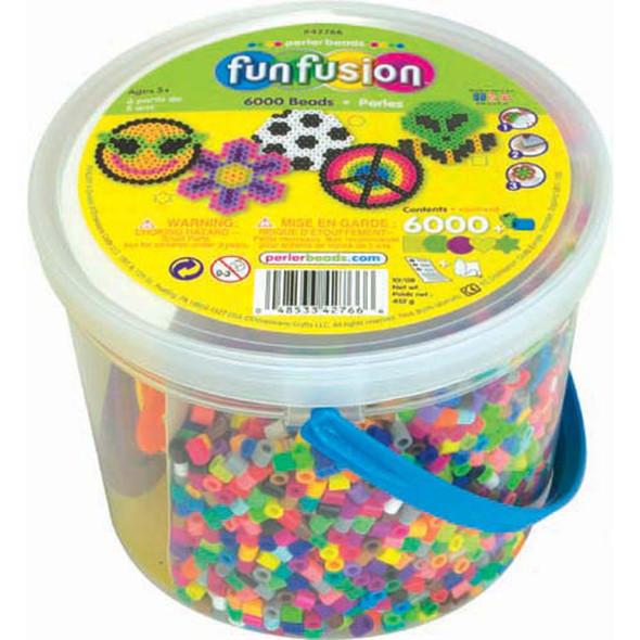 Fun Fusion Activity Bucket Multi-Mix, Perler Beads, Group Pack, 6000 Ct