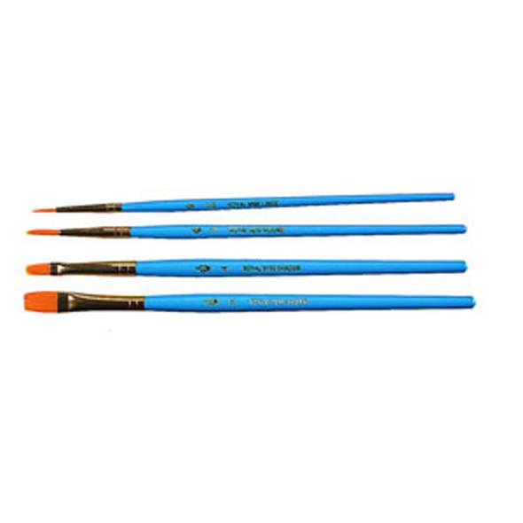 Golden Nylon Acrylic Brush Set, 4 Pc - 1 Set